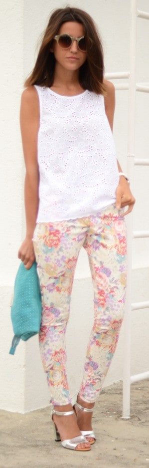 Flowered pants: SUITEBLANCO