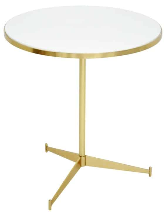 Paul McCobb brass cigarette table
