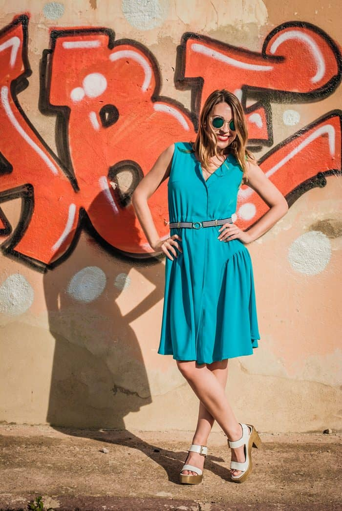 guillermina_ferrer_blue_vintage_dress