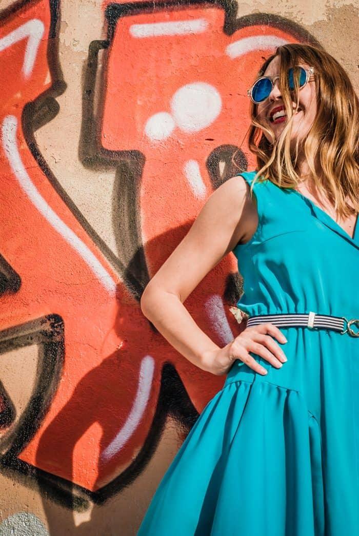 guillermina_ferrer_blue_vintage_dress