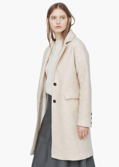 abrigo lana solapas mango 44.99