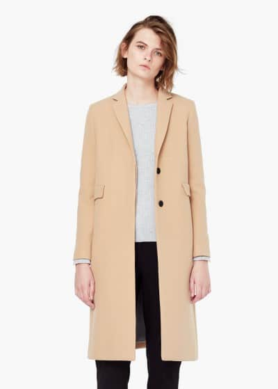 abrigo recto bolsillos mango 59.99