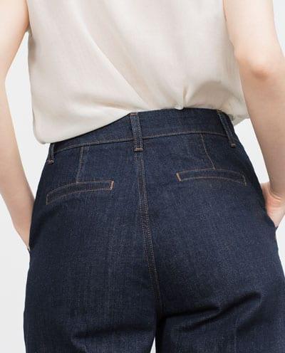 jeans culotte zara detrás 12.99