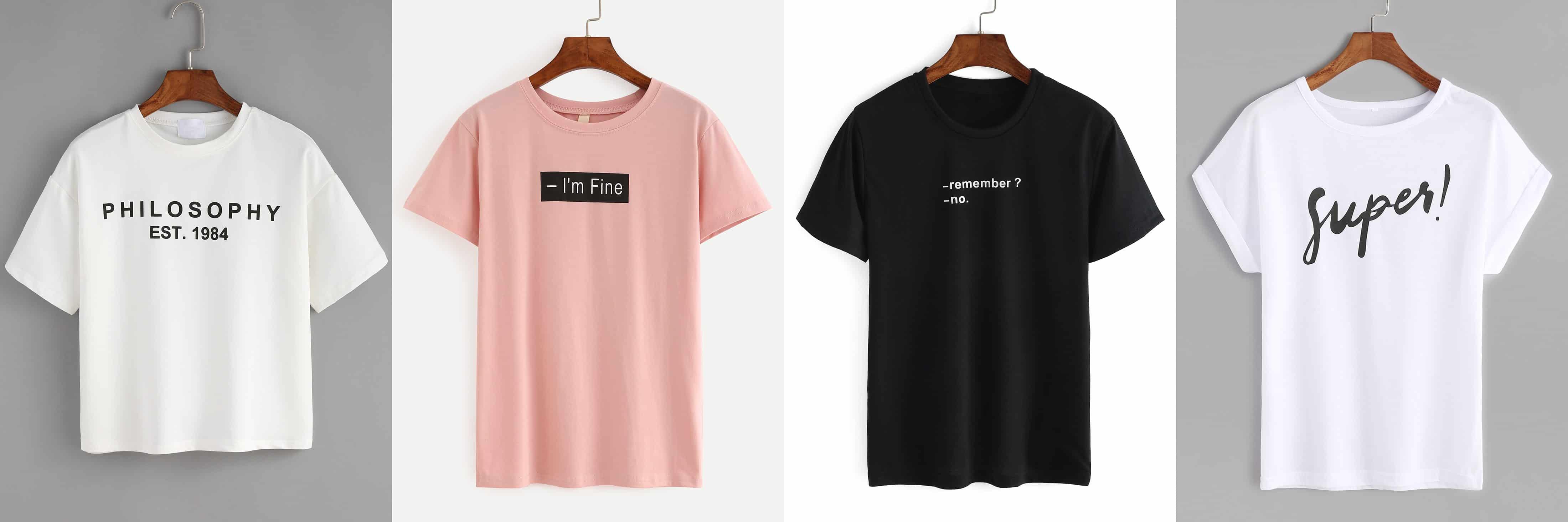 Camisetas con slogan